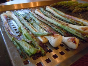 grilled spring onions