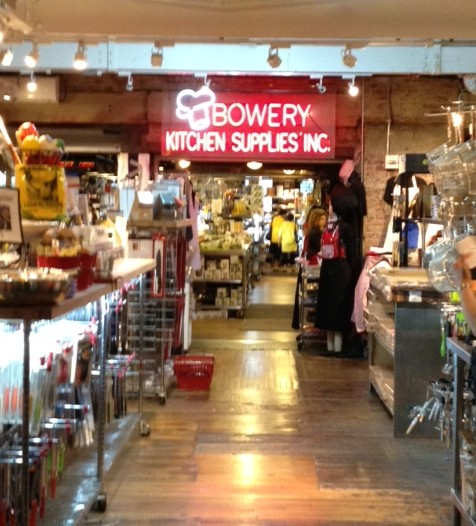 Tools and gadgets galore line the aisles at Bowery