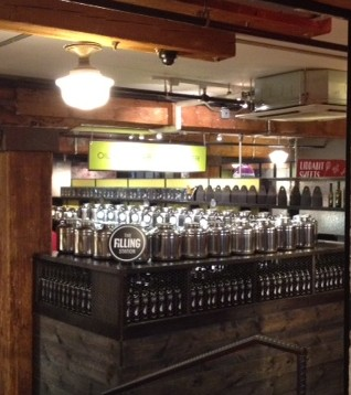 An abundance of flavored oils, vinegars and salts at The Filling Station