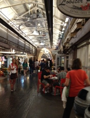 The meandering hallway of Chelsea Market
