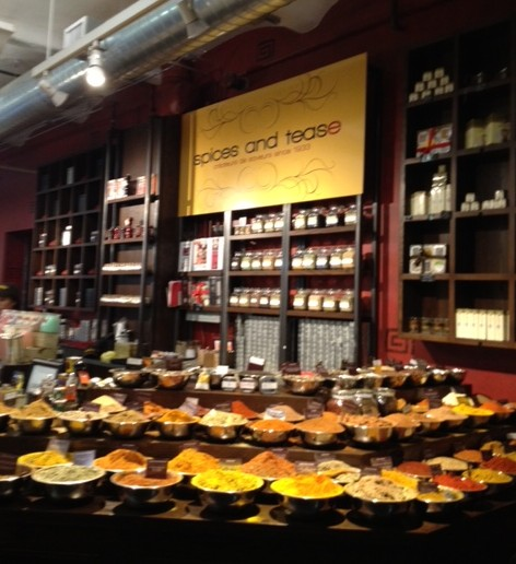 Mix and match spices, teas, sugar, and more at Spice and Tease